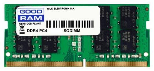 Оперативная память для ноутбука 8Gb (1x8Gb) PC4-21300 2666MHz DDR4 SO-DIMM CL19 Goodram GR2666S464L19S/8G память so dimm ddr4 goodram 4gb gr2400s464l17s 4g