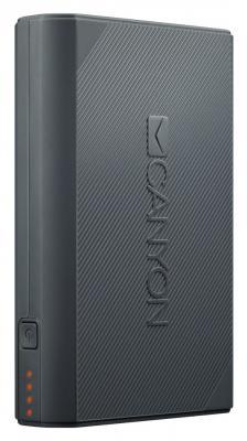 лучшая цена Внешний аккумулятор Power Bank 7800 мАч Canyon CNE-CPBF78DG темно-серый H2CNECPBF78DG