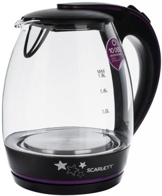 Чайник электрический Scarlett SC-EK27G59 2200 Вт чёрный 1.8 л пластик/стекло чайник термос scarlett is 509 920вт 3 5л стекло