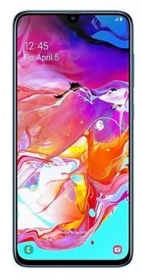 Смартфон Samsung Galaxy A70 128 Гб синий (SM-A705FZBMSER) смартфон samsung galaxy s10 128 гб перламутровый sm g973fzwdser