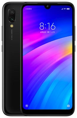 Смартфон Xiaomi Redmi 7 16Gb 2Gb черный моноблок 3G 4G 2Sim 6.26 720x1520 Android 9 12Mpix 802.11 b/g/n GPS GSM900/1800 GSM1900 MP3 FM A-GPS microSD max512Gb смартфон motorola xt1925 5 g6 32gb 3gb синий моноблок 3g 4g 2sim 5 7 1080x2160 android 8 0 12mpix 802 11abgnac bt gps gsm900 1800 gsm1900 touchsc ptotect mp3 a gps microsd max128gb