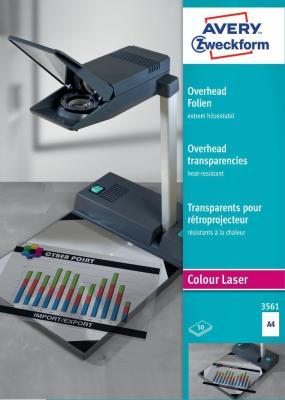 Пленка Avery Zweckform CL+K 3561 A4/196г/м2/50л./прозрачный самоклей. для лазерной печати