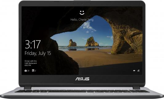 Фото - Ноутбук Asus VivoBook X507UF-BQ205T Core i3 7020U/6Gb/1Tb/nVidia GeForce Mx130 2Gb/15.6/FHD (1920x1080)/Windows 10/grey/WiFi/BT/Cam ноутбук asus n705uf gc138t 17 3 1920x1080 intel core i3 7100u 1 tb 6gb nvidia geforce mx130 2048 мб серый windows 10 home 90nb0ie1 m01760
