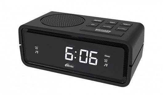 цена на Часы с радиоприёмником Ritmix RRC-606 чёрный