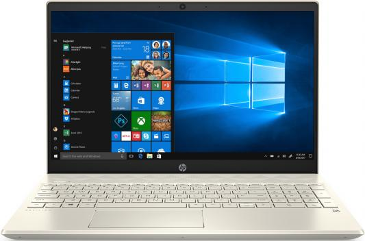 "Ноутбук HP Pavilion 15-cs2002ur 15.6"" 1920x1080 Intel Core i3-8145U 128 Gb 4Gb Intel UHD Graphics 620 золотистый Windows 10 Home 6PS08EA"