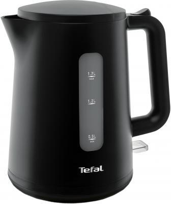 лучшая цена Чайник Tefal KO200830 2400 Вт чёрный 1.7 л пластик