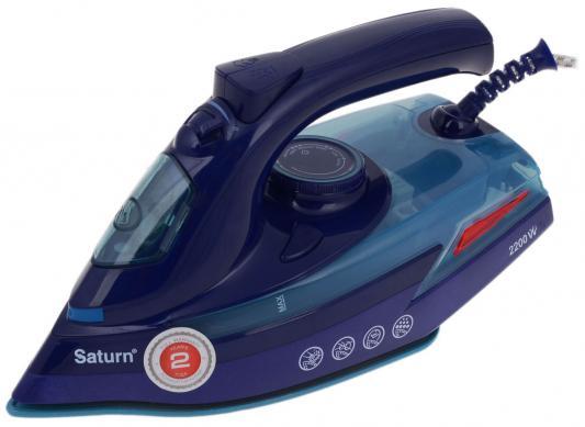 Утюг Saturn ST-СС7128 2200Вт синий цена