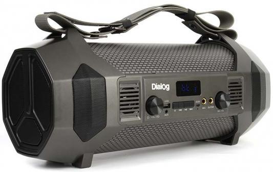Колонки Dialog Progressive AP-1050 - акустическая колонка-труба, 24W RMS, Bluetooth, FM+USB+SD, LED дисплей колонки dialog disco ad 05 cherry 20w rms 2 0