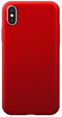 Накладка Deppa Case Silk для iPhone XS Max красный 89038 платье oodji ultra цвет красный белый 14001071 13 46148 4512s размер xs 42 170