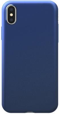 Накладка Deppa Silk для iPhone X iPhone XS синий 89041 цена и фото