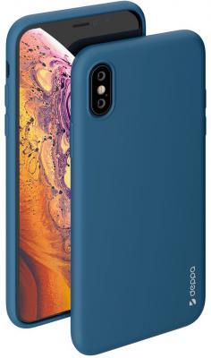 Накладка Deppa Gel Color для iPhone X iPhone XS синий 85362 цена и фото