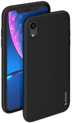 Накладка Deppa Gel Color для iPhone XR чёрный 85363 цена