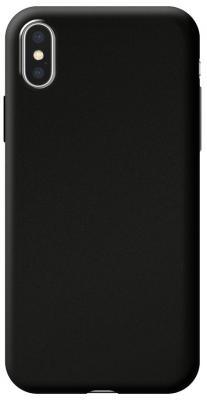 Накладка Deppa Silk для iPhone X iPhone XS чёрный 89040 цена и фото