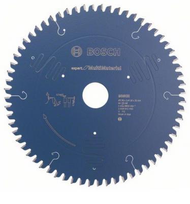Bosch Expert for Multimaterial 2608642493 диск пильный, 216x30, 64 зуб. диск пильный bosch 300х30мм 96зубьев expert for laminated panel 2 608 642 517