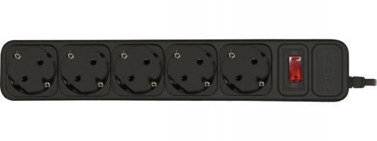 цена на CBR Сетевой фильтр CSF 2500-1.8 5 розеток, 1.8 метра, Black PC (пакет)