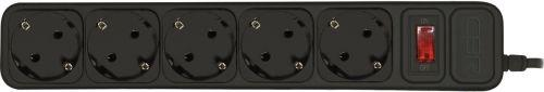 цена на CBR Сетевой фильтр CSF 2500-5.0 5 розеток, 5.0 метров, Black PC (пакет)