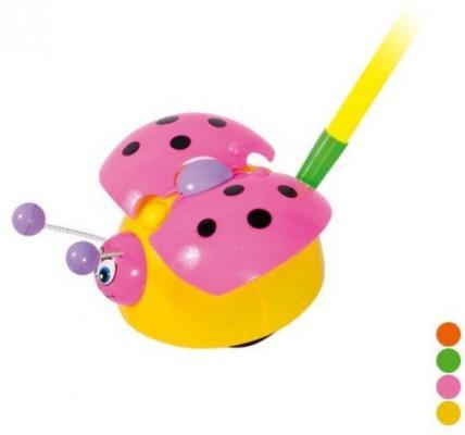 Каталка на палочке Наша Игрушка Жучок цвет в ассортименте пластмасса каталка детская наша игрушка барабан с шариком в ассортименте
