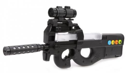 Купить Оружие Наша Игрушка Автомат черный, 45х3, 5х19 см, для мальчика, Игрушечное оружие