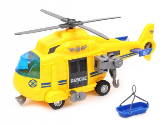 Игровой набор Наша Игрушка Вертолет желтый 27 см