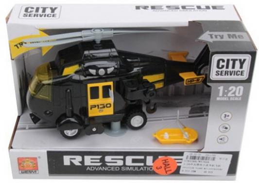 Вертолет инерц. 1:20, свет, звук, спасательная корзина, эл.пит.AG13/LR44 вх.в комплект