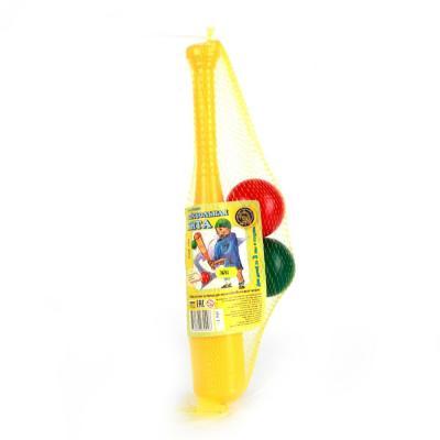 Спортивная игра Пластмасса-Детство (СВСД) Набор бейсбольная бита бита бейсбольная виктори 29