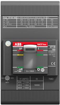 ABB 1SDA066807R1 Выключатель автоматический XT1B 160 TMD 100-1000 3p F F