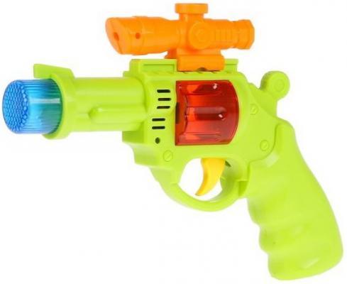 Пистолет на бат. свет+звук, в пак. с хедером (русс. уп.) в кор.2*120шт железная дорога на бат с дымом свет звук длина 212см 0697 в русс кор 57 39 7см в кор 12шт