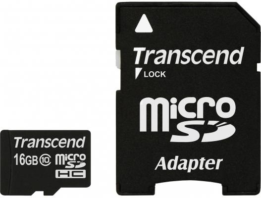 Карта памяти MicroSDHC 16GB Transcend Class10 (TS16GUSDHC10)