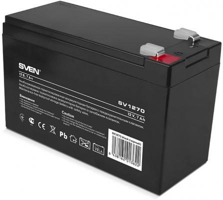Sven SV 1207S (12V7Ah), F1, AGM VRLA батарея аккумуляторная для слаботочных систем цена