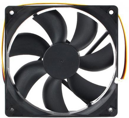 Gembird Вентилятор 120x120x25 гидродинамический, 3 pin, провод 30 см (D12025HM-3) вентилятор gembird 80mm d8015sm 3