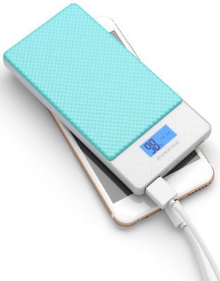 Фото - Внешний аккумулятор Power Bank 10000 мАч Pineng PN-993BL голубой внешний аккумулятор power bank 10000 мач pineng pn 993pk розовый qc 3 0 type c