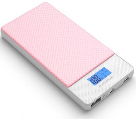 Фото - Внешний аккумулятор Power Bank 10000 мАч Pineng PN-993PK розовый QC 3.0 Type-C аккумулятор