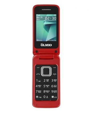 Мобильный телефон Olmio F18 красный мобильный телефон gerffins flip красный