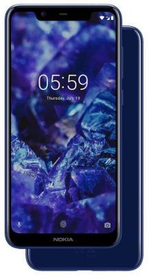 Смартфон NOKIA 5.1 Plus 32 Гб синий (11PDAL01A01) смартфон