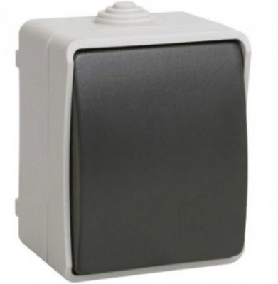 Выключатель IEK EVS13-K03-10-54-DC 10 A серый черный