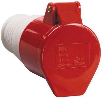 Iek PSR22-032-5 Розетка 225 переносная 3Р + РЕ+ N 32А 380В IP44 ИЭК цена