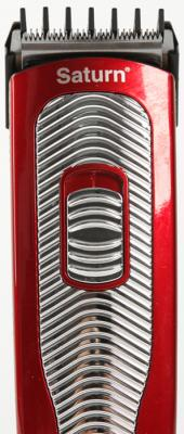 Машинка для стрижки волос Saturn ST-HC 7384 red красный чёрный из ремонта машинка для удаления катышков saturn st cc1550