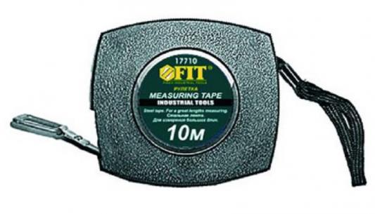 Рулетка FIT 17710 10м, стальная лента, пластик.корпус цена в Москве и Питере