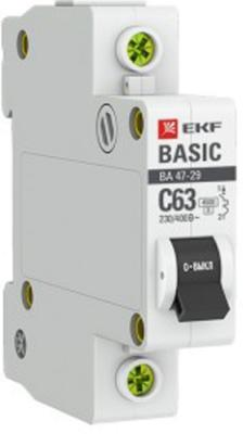 Автомат EKF mcb4729-1-06C 1п c 6а ва 47-29 4.5ка basic ограничитель ekf opv d2