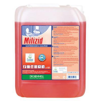Средство моющее для уборки санитарных помещений DR.SCHNELL Milizid 10 л rm 555 универсальное моющее средство