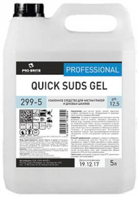 Средство для чистки плит, духовок, грилей от жира/нагара 5 л, PRO-BRITE QUICK SUDS GEL, щелочное, гель, 299-5 недорого