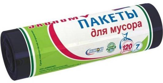 ПАКЕТЫ ДЛЯ МУСОРА ЭКОНОМ 120 Л (ЧЕРНЫЕ) РУЛОН 7 ШТ. (1/30) AVIKOMP