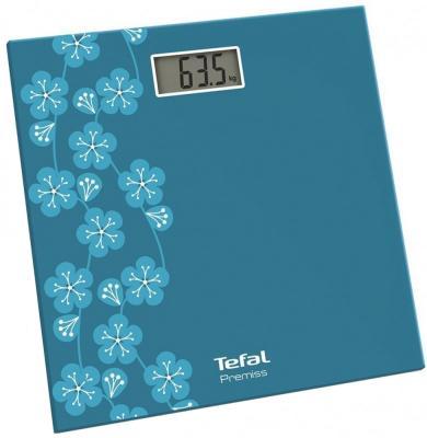 Весы напольные Tefal PP1079V0 бирюзовый рисунок цена и фото