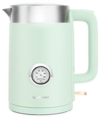 Чайник электрический KITFORT КТ-659-2 2200 Вт зелёный 1.7 л пластик чайник электрический element el kettle 2200 w
