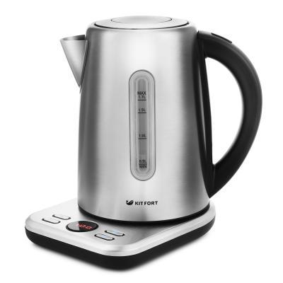 Чайник электрический KITFORT КТ-661 2200 Вт серебристый 1.7 л металл