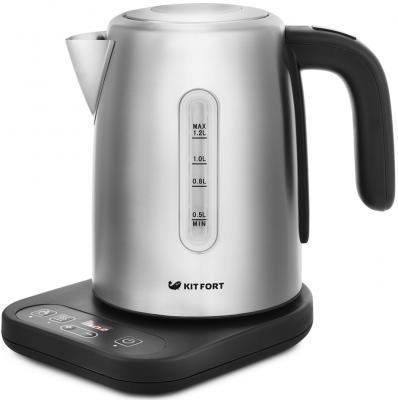 Чайник электрический KITFORT КТ-662 2200 Вт серебристый 1.2 л металл чайник электрический element el kettle 2200 w