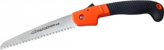 лучшая цена Ножовка HARDEN 631301 пила складная универсальная зуб 3d 180 мм