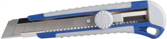 Нож КОБАЛЬТ 242-168 технический лезвие 25мм двухкомпонентный корпус металлическая направляющая нож кобальт 242 175
