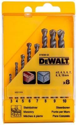 Набор сверл DEWALT DT9288-QZ по кирпичу 3-12мм,10шт набор для творчества бусины керам на силикон нити 10шт 12мм a06 незабудки голубые