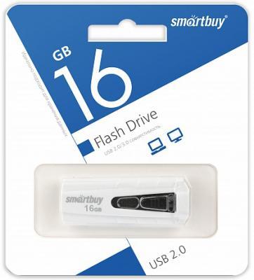Флешка 16Gb Smart Buy IRON USB 2.0 белый SB16GBIR-W флешка 32gb smart buy paean usb 2 0 белый sb32gbpn w